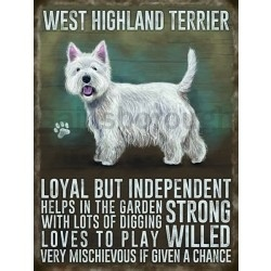 West Highland Terrier- Hanging Metal Sign-0