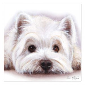 West Highland Terrier - Watercolour Blank Card-0