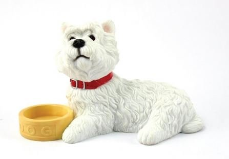 West Highland Terrier with Bowl Figurine-0