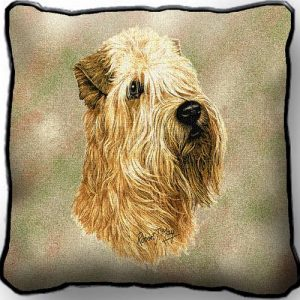 Wheaten Terrier Tapestry Cushion Cover-0
