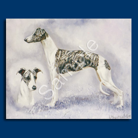 Whippet- 6 pack Note Cards-0