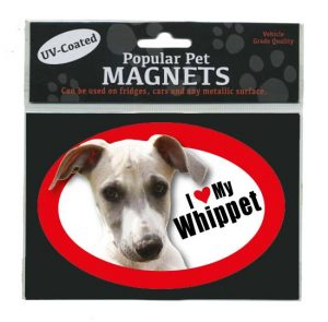 I Love My Whippet - Oval Magnet-0
