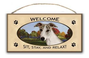Whippet - Welcome Hanging Sign-0