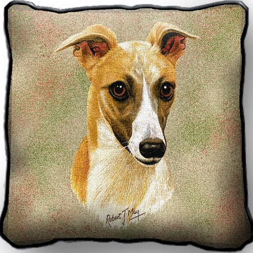 Whippet Tapestry Cushion Cover-0