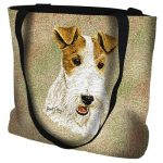 Wire Fox Terrier Tote Bag-0