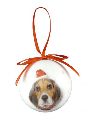Beagle Christmas Bauble-0
