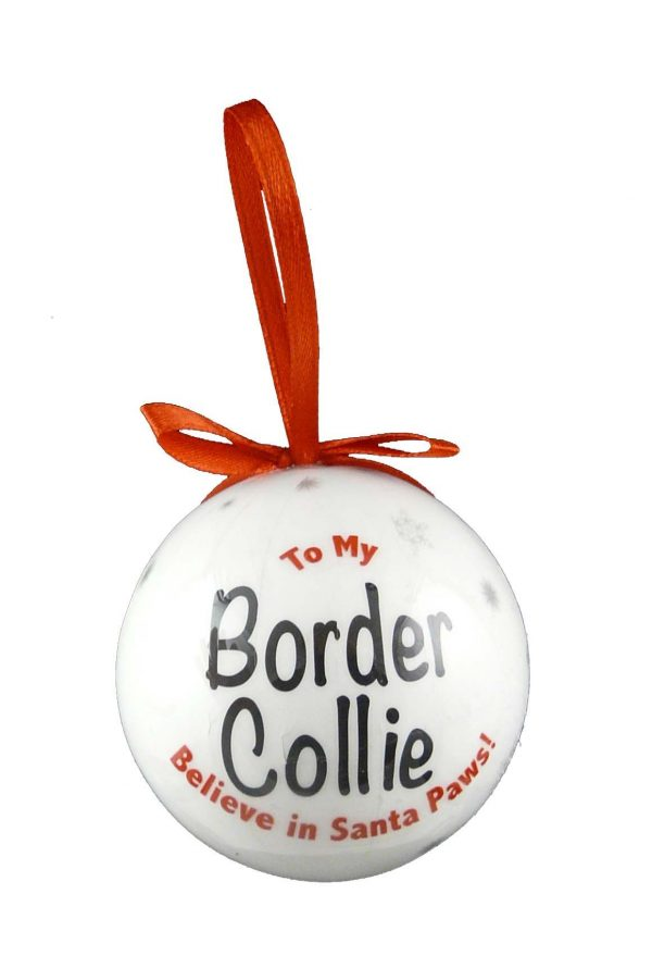 Border Collie Christmas Bauble-7232