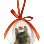 German Shepherd Christmas Bauble-0