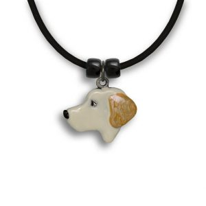 Labrador Yellow Enamel Necklace-0