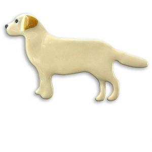 Enamel Yellow Labrador pin-0