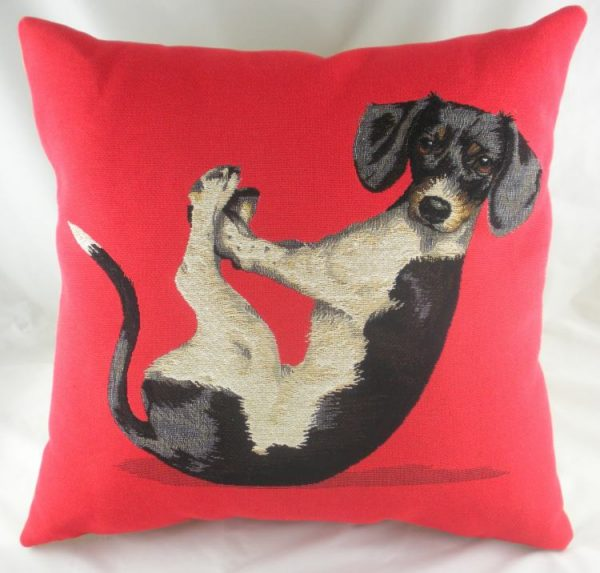 Yoga Jack Russell Tapestry Cushion Cover-0
