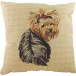 Yorkshire Terrier Tapestry Cushion Cover-0