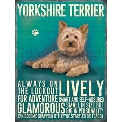 Yorkshire Terrier- Hanging Metal Sign-0