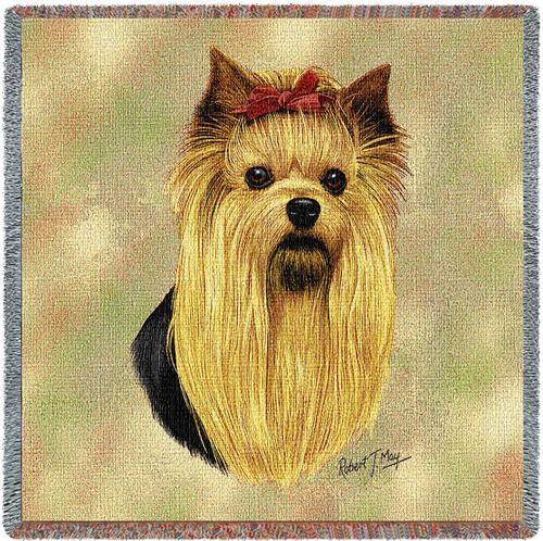 Yorkshire Terrier Tapestry Throw-0