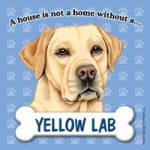 Labrador (Yellow) Fridge Magnet-0