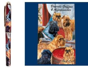 Affenpinscher and Brussels Griffon- Deluxe Ink Pen-0