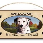 Dalmatian - Welcome Hanging Sign-0