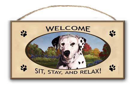 Dalmatian – Welcome Hanging Sign-0