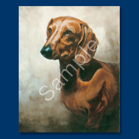 Dachshund (red/brown) - 6 pack Note Cards-0