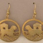 Dogue de Bordeaux Gold Plated Wire Earrings-0