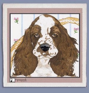 English Springer Kitchen Tea Towel-0