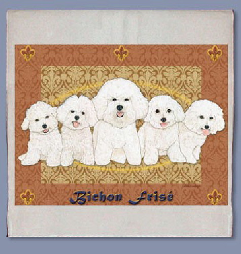 Bichon Frise Kitchen Tea Towel-0