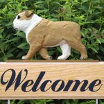 English Bulldog Welcome Sign-0