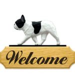 French Bulldog Welcome Sign-0