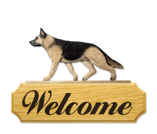 German Shepherd Welcome Sign-0