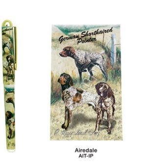 Pointer & German Shorthaired Pointer Deluxe Ink Pen-0