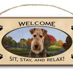 Airedale Terrier- Welcome Hanging Sign-0