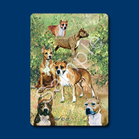American Staffordshire Terrier - Deck of Playing Cards-0