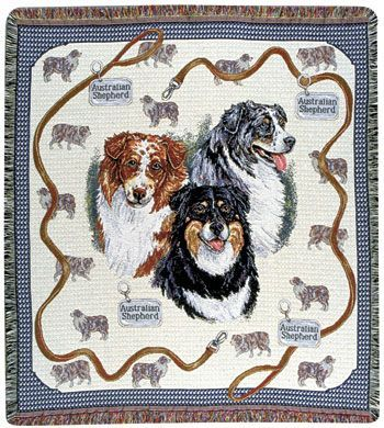 Australian Shepherd – Tapestry Throw-0