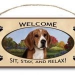 Beagle- Welcome Hanging Sign-0