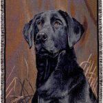 Labrador (Black) - Tapestry Throw-0