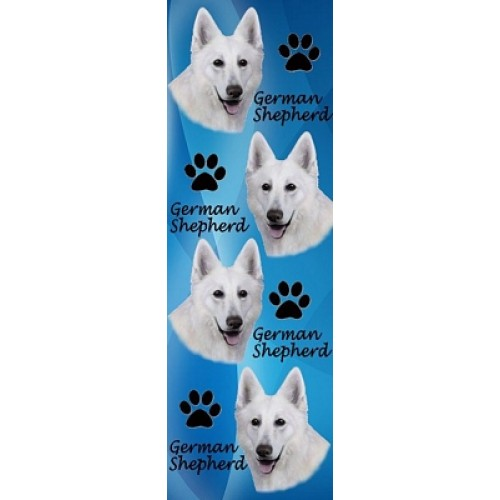 White Swiss Shepherd 3D Bookmark-0