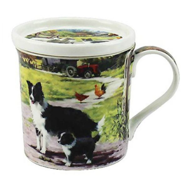 Border Collie & Sheep- Fine China Mug & Coaster set-5288