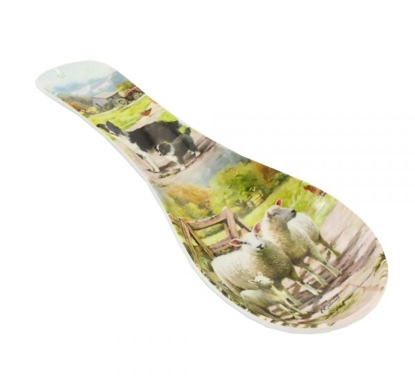 Border Collie & Sheep Spoon Rest-0