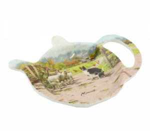 Border Collie & Sheep- Tea Bag Tidy Dish-0