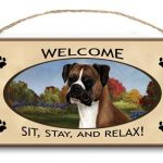 Boxer- Welcome Hanging Sign-0