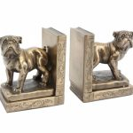 Bulldog Bronzed Bookends-0