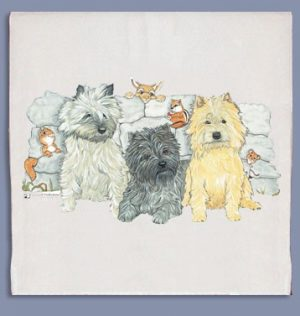 Cairn Terrier Kitchen Tea Towel-0