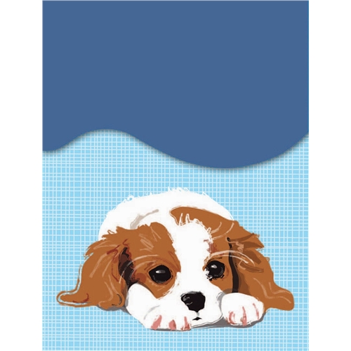 Cavalier King Charles Spaniel Mini Magnetic Notepad-0