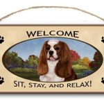 Cavalier King Charles Spaniel- Welcome Hanging Sign-0