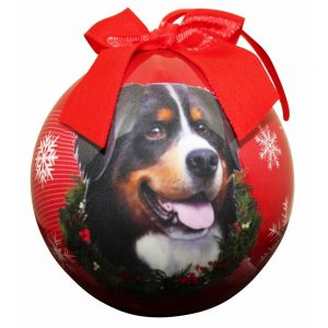 Bernese Mountain Dog Christmas Bauble-0