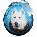 White Swiss Shepherd Christmas Bauble-0