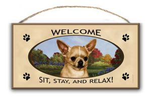 Chihuahua - Welcome Hanging Sign-0