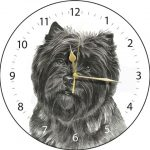 Cairn Terrier (black) - Clock-0