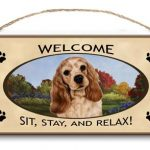 Cocker Spaniel - Welcome Hanging Sign-0