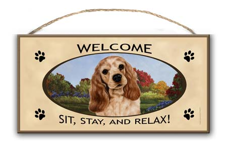 Cocker Spaniel – Welcome Hanging Sign-0